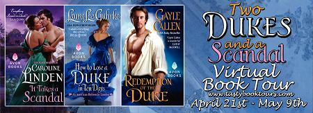 Two Dukes and a Scandal Book Tour